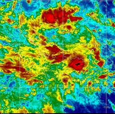 Satellite images from the time AirAsia plane when missing show intense thunderstorms