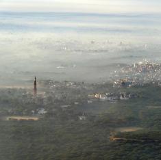 Delhi Birds: Aerial views of the national capital, through smog and sunshine