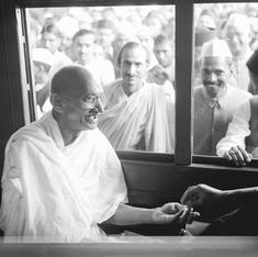 Dirty carriages, filthy toilets: Mahatma Gandhi rides in a third-class compartment