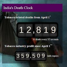 13,500 tobacco deaths since April 1: Activists launch campaign to push for cigarette pack warnings