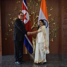 Why did an envoy from secretive North Korea visit New Delhi on Monday?