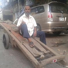 On summer afternoons, rest is not an option for Mumbai's handcart pullers