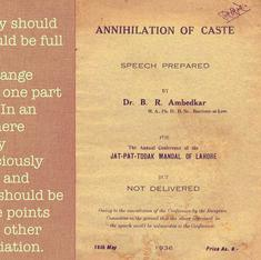 May 15: It was 79 years ago today that Ambedkar's 'Annihilation Of Caste' was published