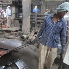 In the steel mills of Delhi, as the heat sizzles, workers faint
