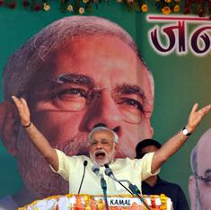 Modi goes to a village to convince the poor that the first year of his government wasn't bad