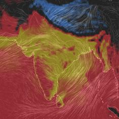 Three maps that show how the horrific temperatures in Telangana and Andhra will soon hit all of India