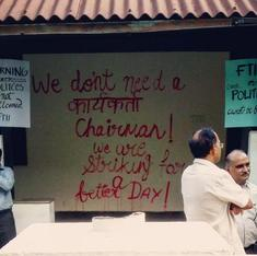 FTII students boycott classes to protest appointment of new chairperson, BJP man Gajendra Chauhan