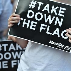 Somehow Americans are still debating whether to take down a flag used by slavery supporters