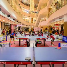 In pictures: When a table tennis tournament was played in the middle of a Pune mall