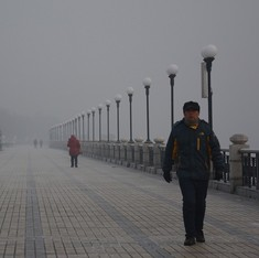 Ten Chinese cities declare pollution red alert