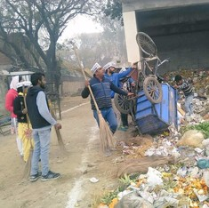 In Pictures: AAP MLAs pick up brooms and clean up garbage in Delhi as MCD workers strike continues