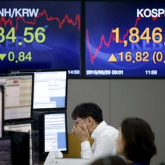 Asian stocks drop sharply after global sell-off
