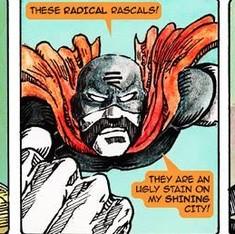 Meet Rashtraman, the fist-swinging, green tea drinking superhero opposed to radical ideas