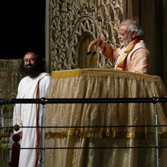 Gods and politicians: The Art of Living event in pictures