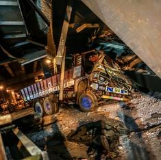 In photos: A desperate search for survivors as Kolkata flyover turns into a mountain of rubble
