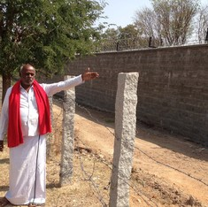 A great wall for a proposed nuclear and scientific complex causes panic in a Karnataka village