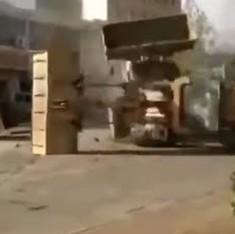 Even worse than Delhi: Watch six bulldozers do battle in bizarre Chinese road rage incident