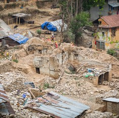 In photos: A year on, Nepal's quake survivors are still homeless