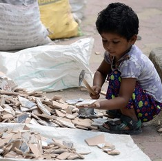 Half of India's homeless children are labourers