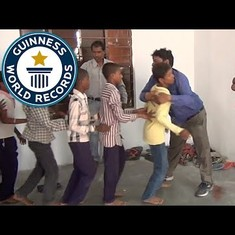 Watch: Indian man hugs his way into Guinness World Records in hilarious video