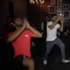 Watch: Chris Gayle, Virat Kohli join Mandeep Singh to do the Bhangra after an IPL win