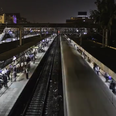 Watch the mesmerising frenzy of Mumbai's local trains captured in this time lapse video