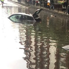Watch: Familiar scenes from a flooded city, except it's London
