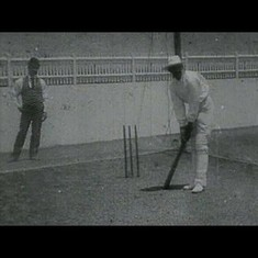 The oldest surviving cricket film shows Ranjitsinhji practising strokes he could have played in T20s