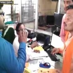 Watch: Shiv Sena workers assault a bank employee in Yavatmal