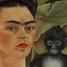 Here's looking at Frida Kahlo's self-portrait with monkeys