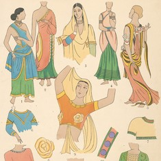 Illustrations: Indian women's fashion from the early 20th century and before