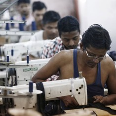 Three charts show how the Indian textile industry lost the race to Bangladesh and Vietnam