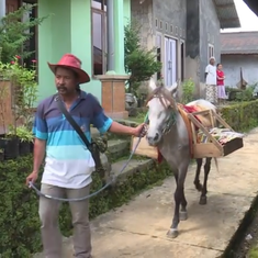 Watch: This Indonesian library is spreading the reading habit – on horseback