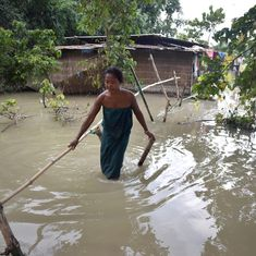 After the flood, the Brahmaputra leaves behind a desert in Assam