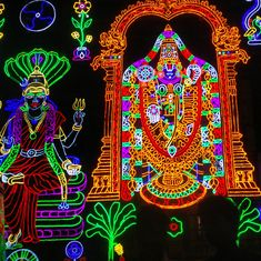 Divine light: Why Chennai's footpaths are playing host to giant images of gods and goddesses