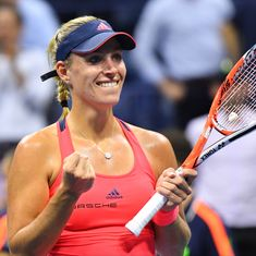 US Open: Angelique Kerber celebrates No. 1 ranking by beating Caroline Wozniacki to enter final
