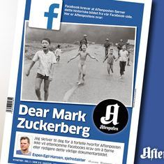Why Norway's largest newspaper is taking on Mark Zuckerberg on its front-page