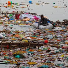 Watch: Citizens step up to clean a Mumbai beach after Ganesh idols were immersed