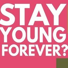 Do you want to stay young forever? This video explains how this could happen