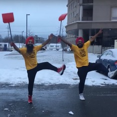 Watch: These bhangra dancers know how to deal with the snow in Canada