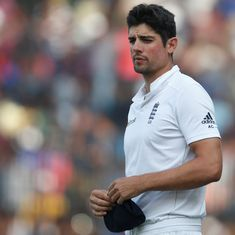 In Rajkot, the series stood evenly poised. India surged while England plunged into the abyss