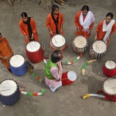 Women in West Bengal are drumming up a movement to revive a traditional percussion instrument
