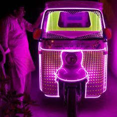 How a projector mounted on an autorickshaw is bringing migrant communities together in Karachi