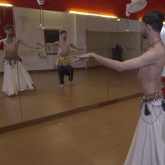 Watch these two male belly dancers  performing against stereotypes with grace and skill