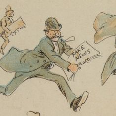 Cartoons: The era of Yellow Journalism, the fake news of the 19th century
