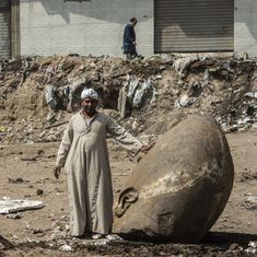 Archaeologists have found a 26-feet-tall statue from ancient Egypt that may be of Pharaoh Ramses II