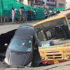 7 incidents in 2 years: Is Metro's tunnelling work causing Chennai roads to cave in?