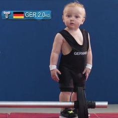 Watch: What if toddlers competed for medals in the Olympic Games?