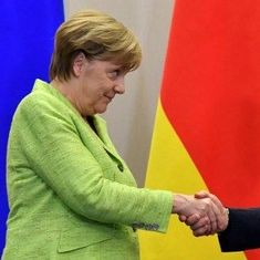 German Chancellor Angela Merkel urges Vladimir Putin to protect gay rights