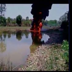 Watch: After Bellandur, another lake in Karnataka was on fire